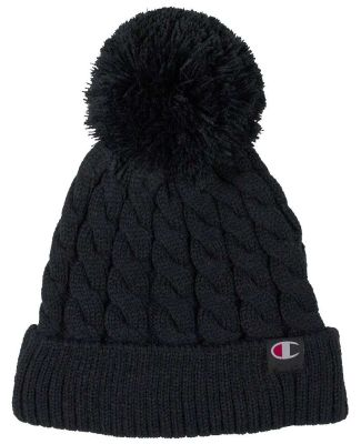 Champion Clothing CH2081 Limited Edition Cable Pom Black