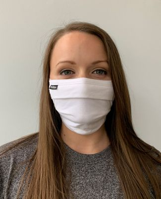 Tultex FM19 Pleated Face Mask White