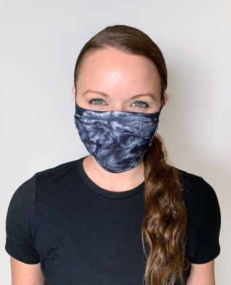 Tultex - FM22 Tie Dyed Face Mask Black