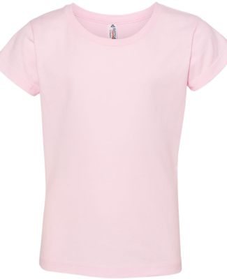 3362 ALSTYLE Girl Sheer Jersey Full Length T Pink