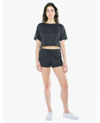 American Apparel RSATR3354W Ladies' Tri-Blend Runn TRI BLACK