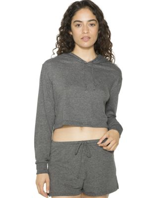 American Apparel RSATR3353W Ladies' Tri-Blend Crop ATHLETIC GREY