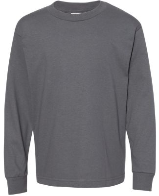 3384 ALSTYLE Yth Retail Long Sleeve T Charcoal