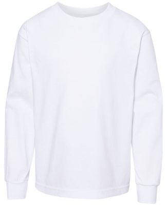 3384 ALSTYLE Yth Retail Long Sleeve T White