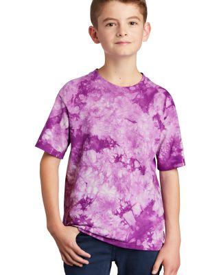 Port & Company PC145Y     Youth Crystal Tie-Dye Te Purple
