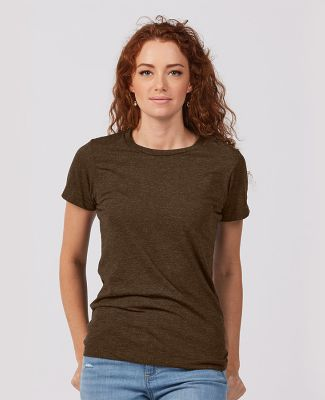 Tultex Premium 542 - Ladies' Premium Cotton Blend  Brown Heather