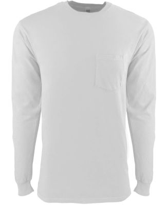Next Level Apparel 7451S Adult Power Pocket T-Shir WHITE