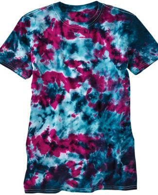 Dyenomite 640LM LaMer Over-Dyed Crinkle Tie Dye T- Baltic