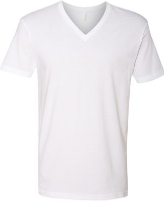 Next Level 3200 Fitted Short Sleeve V WHITE