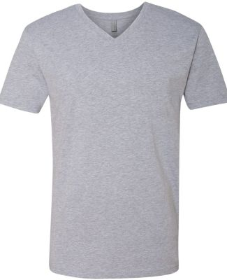 Next Level 3200 Fitted Short Sleeve V HEATHER GRAY