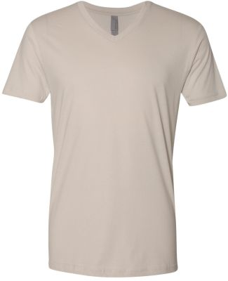 Next Level 3200 Fitted Short Sleeve V SAND