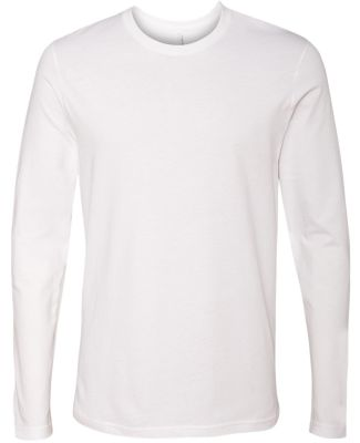 Next Level 3601 Men's Long Sleeve Crew WHITE