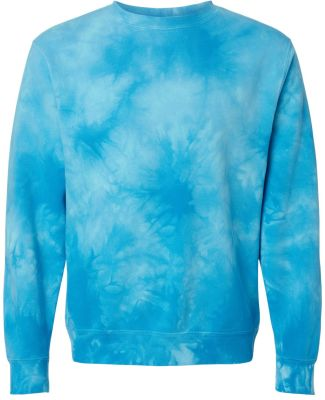 Independent Trading Co. PRM3500TD Midweight Tie-Dy Tie Dye Aqua Blue