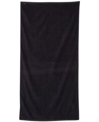 Q-Tees QV3060 Velour Beach Towel Black