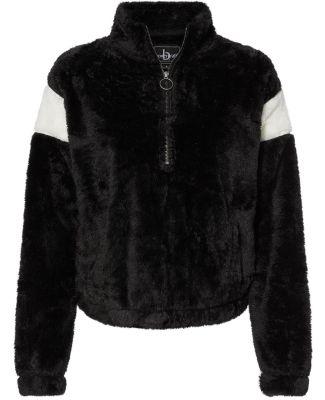 Boxercraft FZ04 Women's Remy Fuzzy Fleece Pullover Black/ Natural