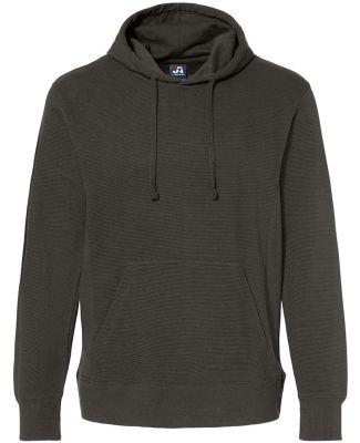 J America 8706 Ripple Fleece Hooded Sweatshirt Black
