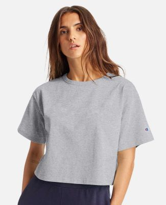 Champion Clothing T453W Women's Heritage Cropped T Oxford Grey
