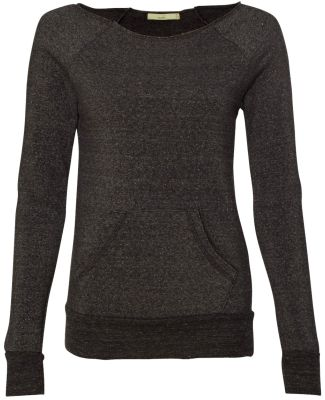 Alternative Apparel AA9582 Ladies Maniac Sweatshir ECO BLACK