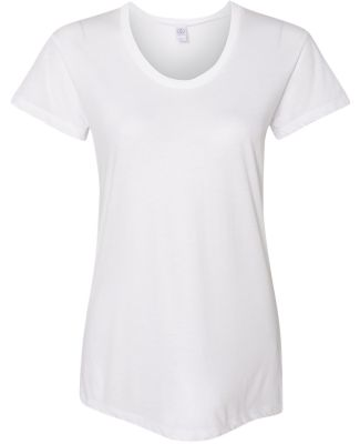 Alternative Apparel AA2620 Ladies Kimber T-Shirt WHITE