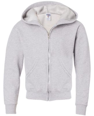 993B Jerzees Youth 8 oz. NuBlend® 50/50 Full-Zip  Ash