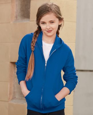 993B Jerzees Youth 8 oz. NuBlend® 50/50 Full-Zip Hood Catalog
