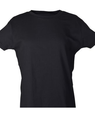 Tultex 0216 / Misses Fine Jersey Tee with a Tear-A Black