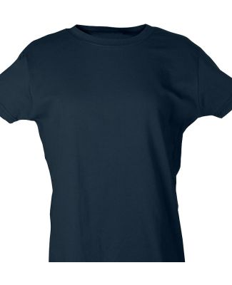 Tultex 0216 / Misses Fine Jersey Tee with a Tear-A Navy