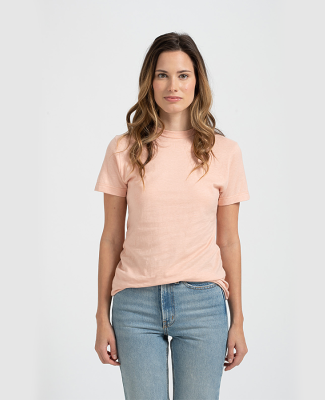 Tultex 0216 / Misses Fine Jersey Tee with a Tear-A Peach