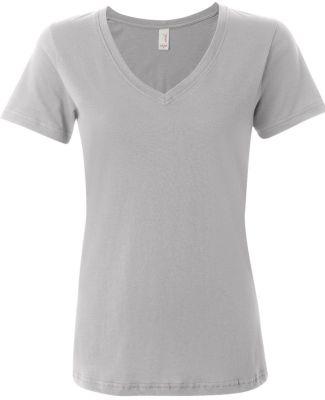 392 Anvil Ladies' Sheer V-Neck T-Shirt Silver