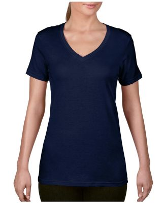 392 Anvil Ladies' Sheer V-Neck T-Shirt Navy