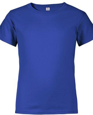 Delta Apparel 65900 Youth Short Sleeve 5.5 oz. Tee Royal