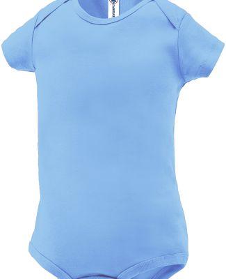 Delta Apparel 9500 Infants 5.8 oz. Rib Snap Tee Sky Blue