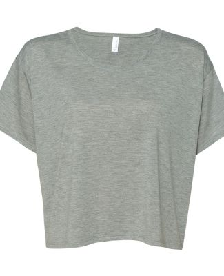 Bella+Canvas 8881 Womens Crop Flowy Boxy Tee ATHLETIC HEATHER