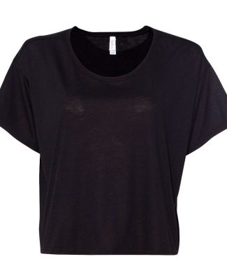 BELLA 8881 Womens Crop Tee BLACK
