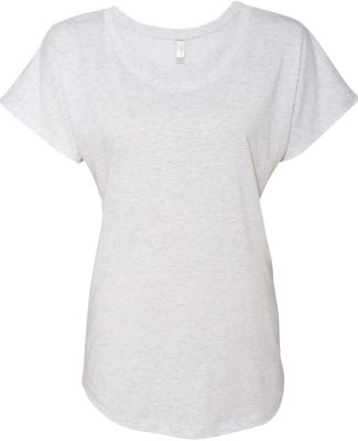 Next Level 6760 Tri-Blend Dolman HEATHER WHITE