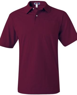 436 Jerzees Adult Jersey 50/50 Pocket Polo with Sp Maroon