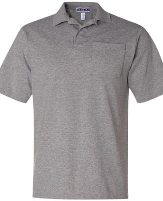 436 Jerzees Adult Jersey 50/50 Pocket Polo with Sp Oxford