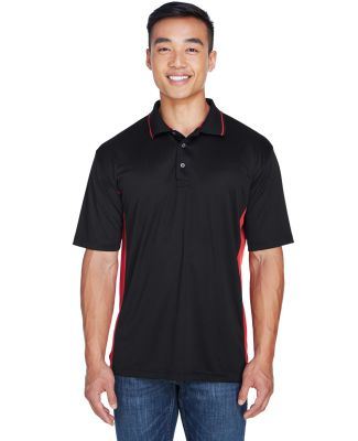 8406 UltraClub® Adult Cool & Dry Sport Two-Tone M BLACK/ RED