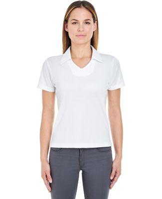 8407  UltraClub® Ladies' Cool & Dry Sport Mesh Pe White