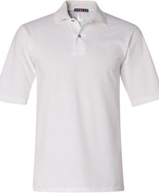 440 Jerzees Adult Ring-Spun Cotton Pique Polo White