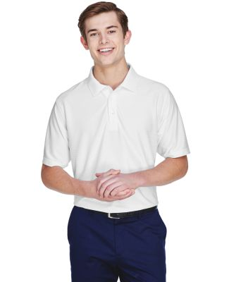 8413 UltraClub® Adult Cool & Dry Elite Tonal Stri WHITE