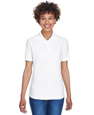 8414 UltraClub® Ladies' Cool & Dry Elite Performa WHITE