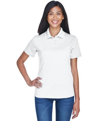 8445L UltraClub Ladies' Cool & Dry Stain-Release P WHITE