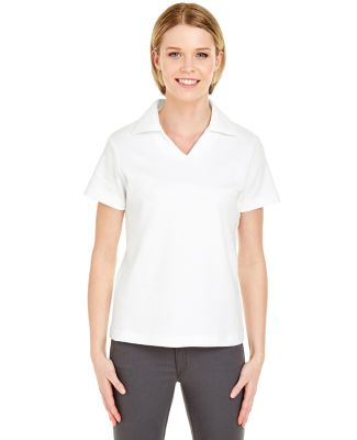 8507 UltraClub® Ladies' Egyptian Interlock Cotton WHITE