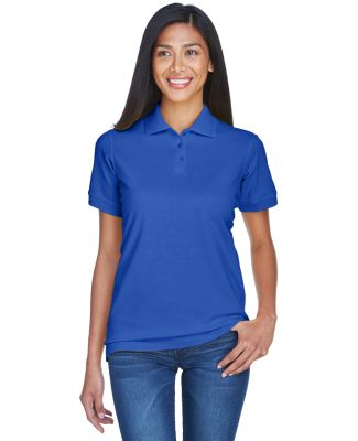8530 UltraClub® Ladies' Classic Pique Cotton Polo ROYAL