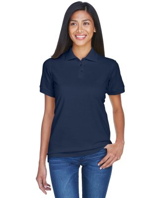 8530 UltraClub® Ladies' Classic Pique Cotton Polo NAVY