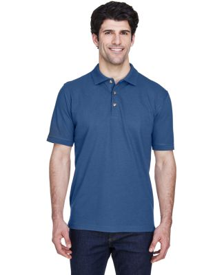 8535 UltraClub® Men's Classic Pique Cotton Polo INDIGO