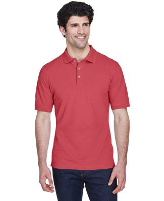 8535 UltraClub® Men's Classic Pique Cotton Polo CARDINAL