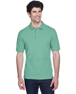 8535 UltraClub® Men's Classic Pique Cotton Polo LEAF