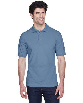 8535 UltraClub® Men's Classic Pique Cotton Polo STORM BLUE